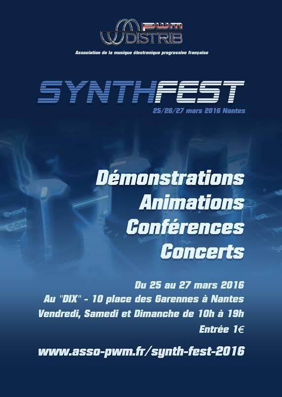 Le troisième SynthFest a lieu à Nantes du 25 au 27 mars 2016 dans Projets culturels synthFest2016