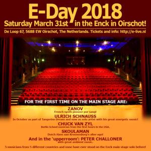 Zanov en concert au E-day 2018 @ Sociaal Cultureel Center De Enck   Oirschot   Noord-Brabant   Pays-Bas